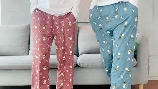 스누피 커플 피치기모9부바지 잠옷 홈웨어 파자마
