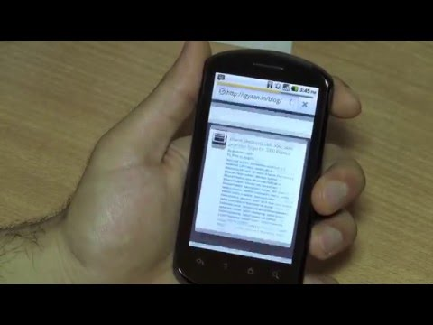Huawei Ideos X5 u8800 unboxing Review Android Cyanogen Root