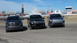 2014 toyota tundra vs ford f 150 vs ram 1500 0 60 towing matchup review part 1