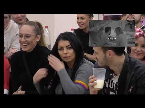 Zadruga 2 - Zadrugari gledaju snimak na kome Luna i Marko flertuju - 14.12.2018.