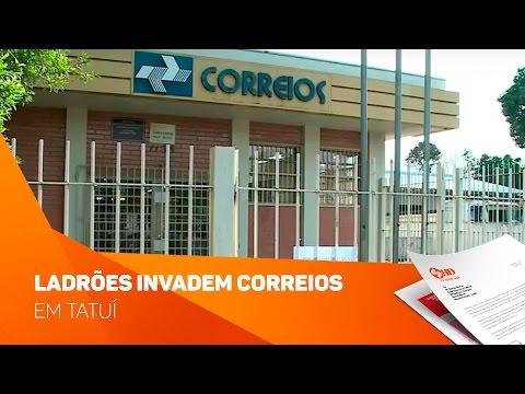 Ladrões invadem Correios em Tatuí - TV SOROCABA/SBT