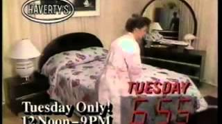 1989 Haverty's furniture commercial