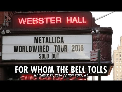 Metallica: For Whom the Bell Tolls (Webster Hall, New York, NY - September 27, 2016)
