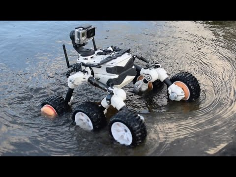Mars rover made on 3d Printer   (WATER TEST)
