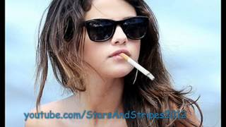 Selena Gomez smoking  cigarettes