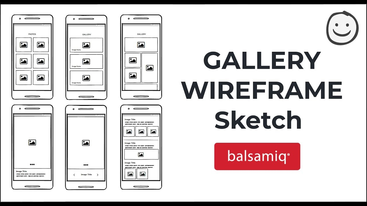 6 Different Image Gallery Wireframe in Balsamiq | UX ...