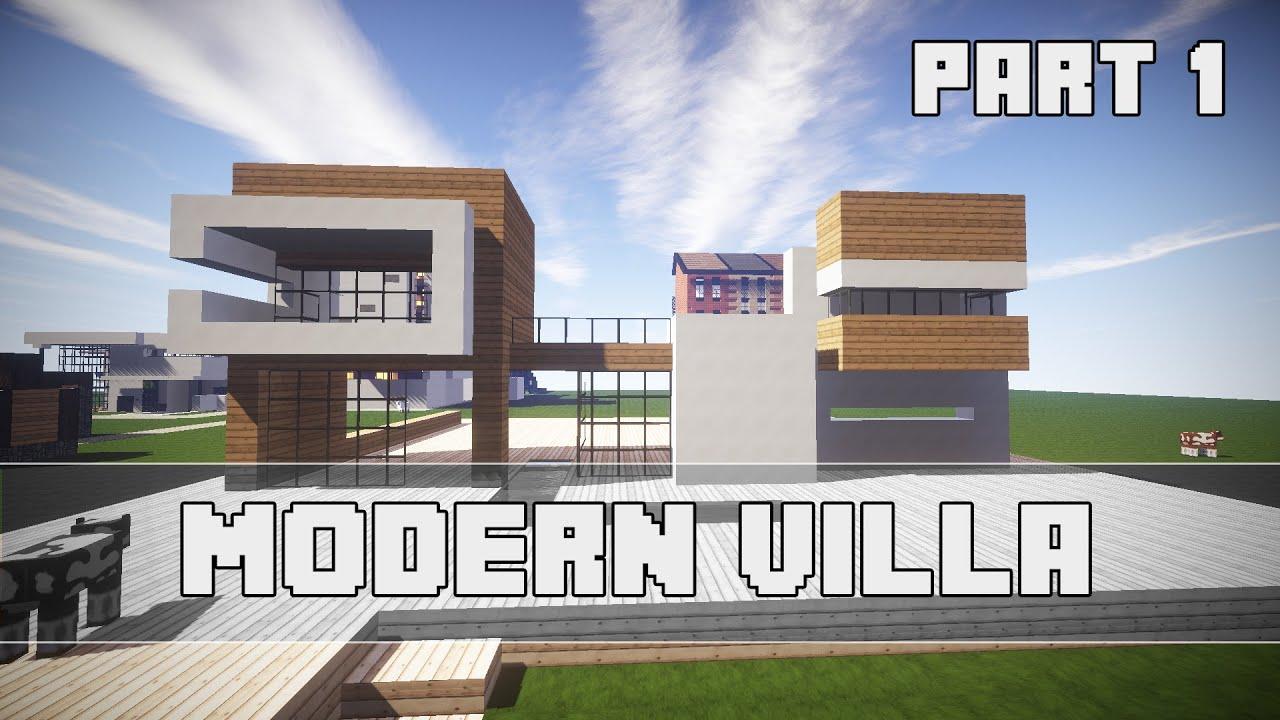 Moderne Villa Part 1 Minecraft Tutorial German - YouTube
