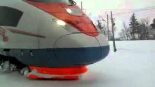 Train in Russian winter (Tåg på ryska vintern)