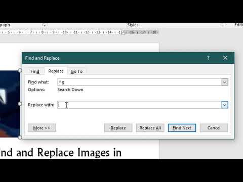 How To Find And Replace Images In A Word Document