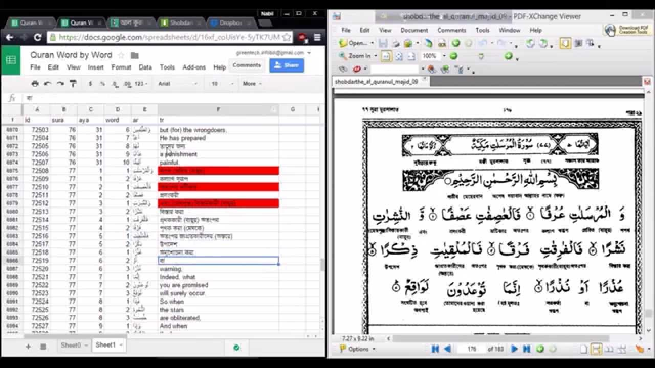 COMPLETED | Al Quran Tafsir & Word by Word Translation in Bangla