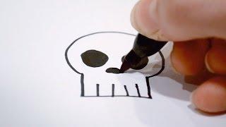 How to Draw a Cartoon Skull
