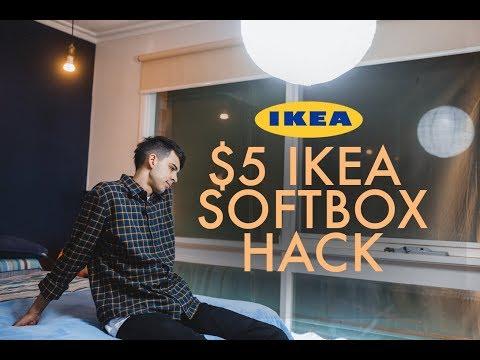 $5 IKEA LANTERN SOFTBOX (Strobist Cheap Lighting Hack)