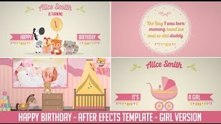 Birthday After Effects Template - Girl Version