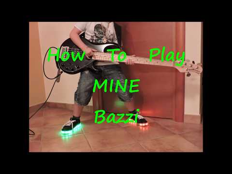 Bazzi - Mine (HOW TO PLAY SLOWLY BASS LINE ALONG BACKING TRACK)
