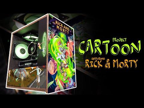 Am facut cel mai EPIC PC din CARTON cu Rick & Morty