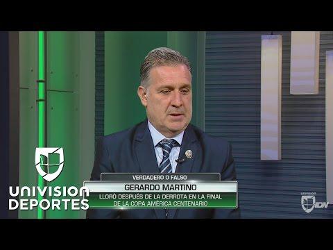 Martino contó que lloró después de perder la final de la Copa América Centenario