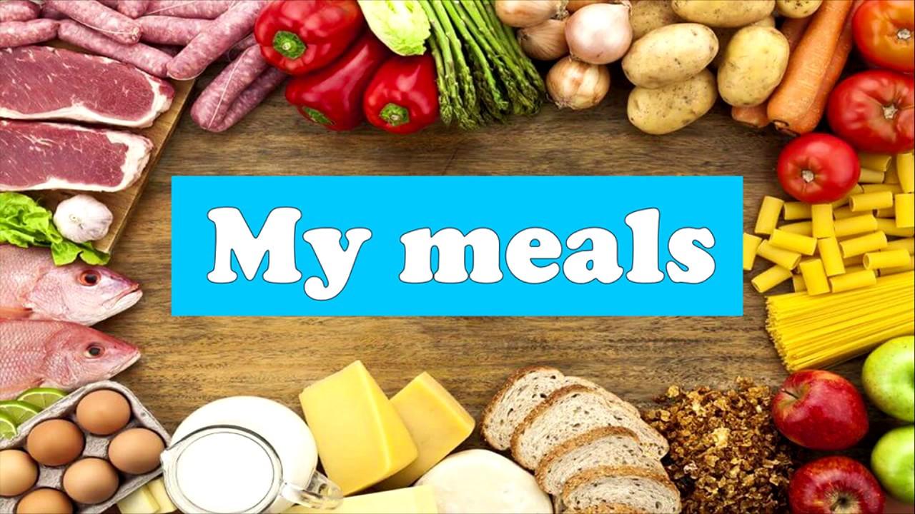 Моя еда, приемы еды на английском языке - YouTube