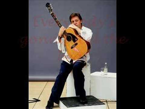 Paul McCartney - dance tonight (lyrics)