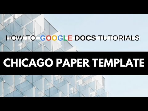 How To Create A Chicago / Turabian Style Template In Google Docs