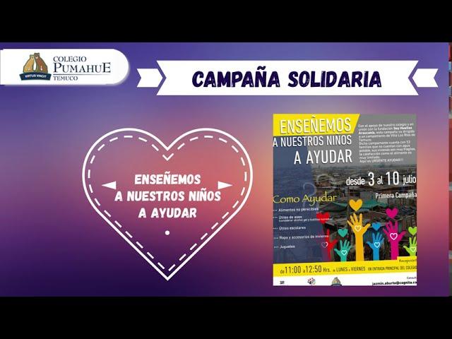 Campaña Solidaria Pumahue Temuco