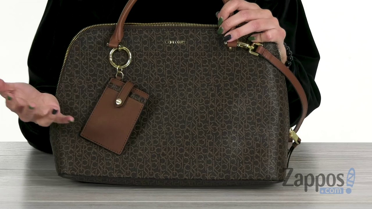 ab8e9070aa Calvin Klein Monogram Dome Satchel SKU: 9161562 - YouTube