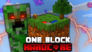 Minecraft One Block Skyblock, but it's HARDCORE!
