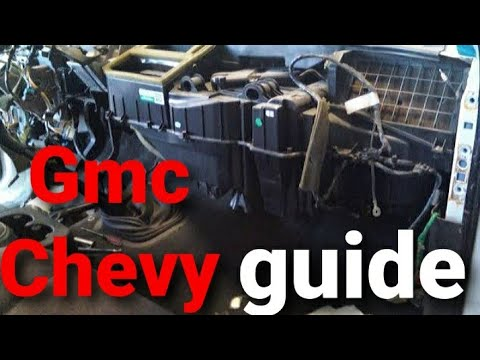 "How to remove dashboard"" 1998-2005 gmc sierra ""chevy"" ""silverado"" ""how to remove"" ""heater core""""DIY"""