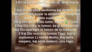 Esperanto with Bible, verse 2
