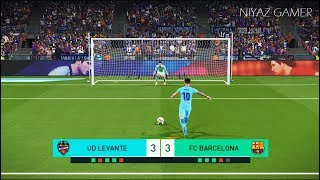 LEVANTE vs FC BARCELONA | Penalty Shootout | PES 2018 Gameplay PC