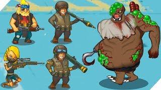 Люди против ЗОМБИ - Игра Human vs Zombies a zombie defense game # 4 Зомби апокалипсис