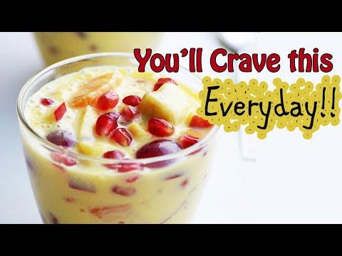 Fruit Custard Recipe - Mixed Fruit Salad with Custard