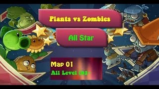 My House All Level Plants vs Zombies All Star Walkthrough