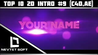 BEST Top 10 Intro 9 2D C4D AE Free Download With Tutorial