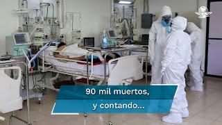 México acumuló, al corte de este 28 de octubre, 90 mil 309 muertes por Covid-19, con 906 mil 803 casos de contagios confirmados de coronavirus, según informaron autoridades de la Secretaría de Salud