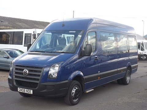 2008 volkswagen crafter cr50 blue accessible minibus gn08 nde