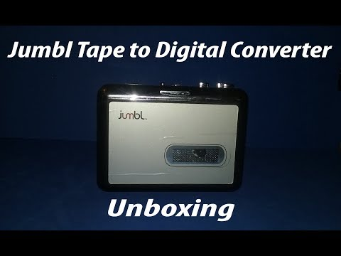 Jumbl Audio USB Cassette Tape to MP3 Player Adapter with Software CD Unboxing