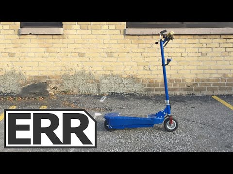 Daymak Photon Solar Electric Kick Scooter Video Review
