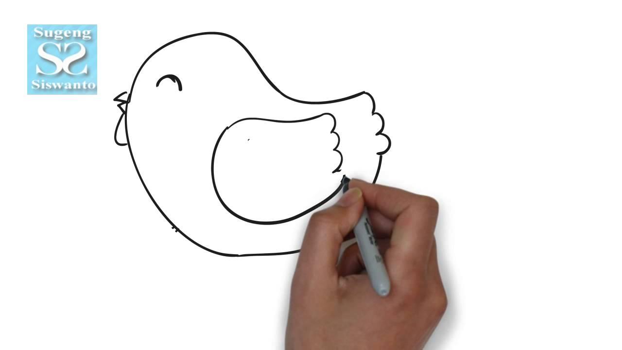 Menggambar Binatang Anak Ayam Draw Animals Chicks Youtube