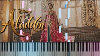 Aladdin - Speechless (Naomi Scott) 2019    How To Play Piano Tutorial + Sheets
