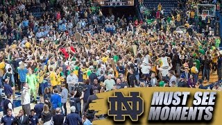 Notre Dame Fans Storm Court Following Win Over UNC | ACC Must See Moment