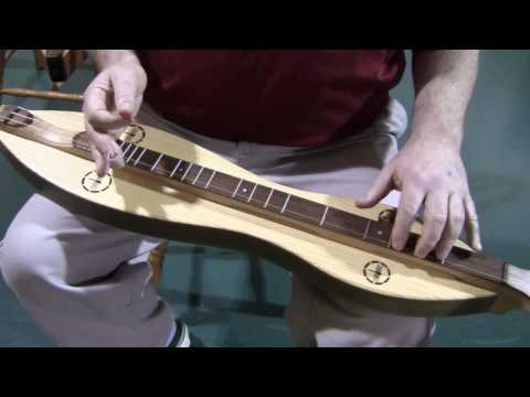 8111061 Folkcraft CSH Series dulcimer demonstration