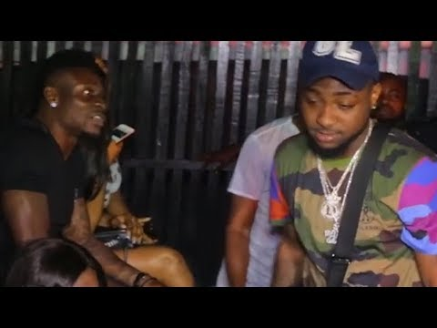 DAVIDO AND OBAFEMI MARTINS SHOW REPECT FOR K1 DE ULTIMATE ON STAGE
