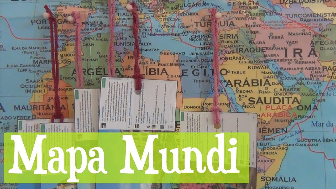 DIY Decoração Quarto - Painel de Fotos de Mapa Mundi - YouTube