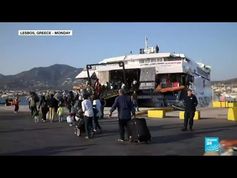 Greece: Hundreds of migrants moved from overcrowded camps on Lesbos