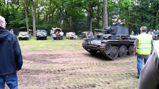 Militracks 2012 38t Skoda panzer leaving base camp Overloon 19 May 2012