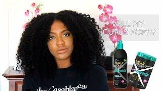 Will My Curls POP?!? Wash n Go  | NOVEX Mystic Black