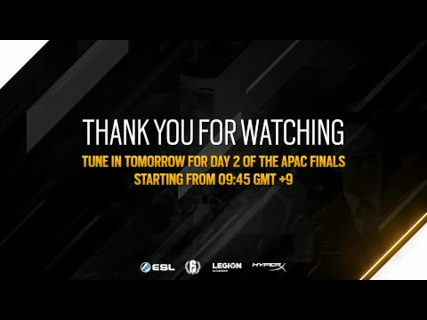 Rainbow 6 Pro League Season 8 APAC Finals - Day 1