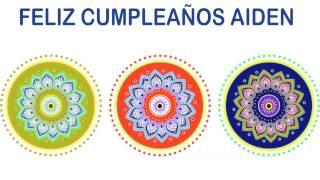Aiden   Indian Designs - Happy Birthday