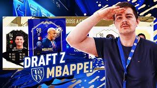 DRAFT Z TOTY MBAPPE 98! TA KARTA JEST CHORA! NIESAMOWITY DRAFT | FIFA 20 JUNAJTED
