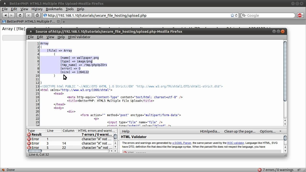 PHP Tutorial: HTML5 Multiple File Upload [part 01]
